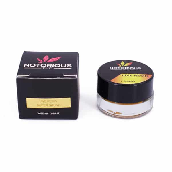 notorious thc live resin super skunk