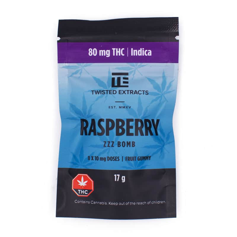 twisted extracts indica raspberry