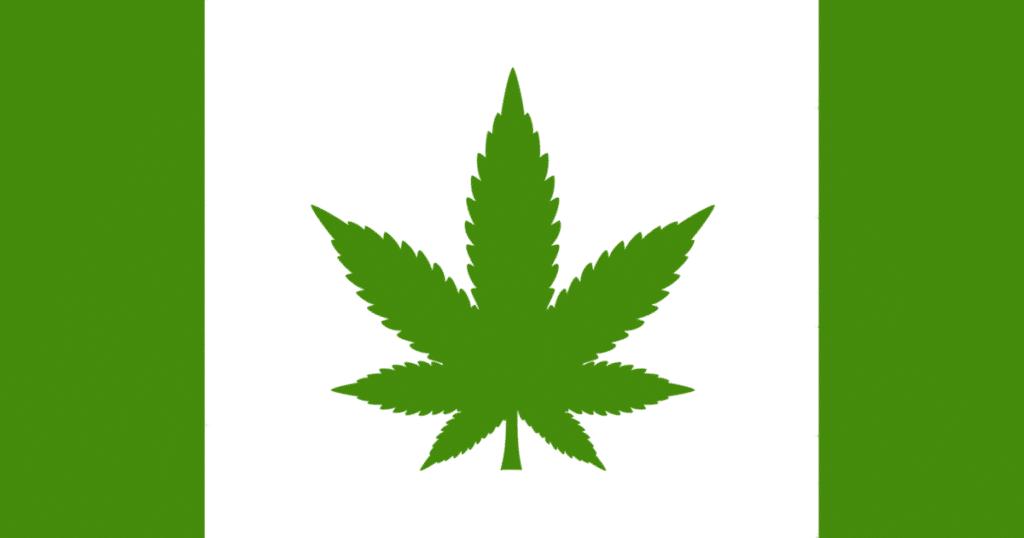 Weed Canada Flag