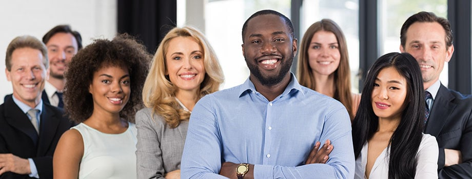 African American Businessman Boss With Group Of Business People In Creative Office, Successful Mix Race Man Leading Business people. Buy weed online in canada.