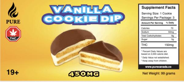 vanilla dip cookies