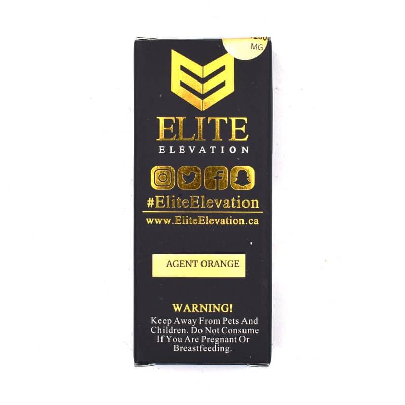 elite elevation live resin cart agent orange